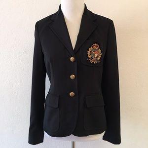 Ralph Lauren Crest Patch Blazer Size 2 Petite